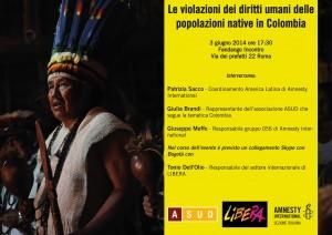 Le violazioni dei diritti umani delle popolazioni native in Colombia @ Fandango Incontro | Roma | Lazio | Italia