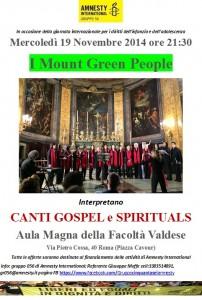 Coro Gospel per i Diritti dell'Infanzia e dell'Adolescenza @ Aula Magna della Facoltà Valdese | Roma | Lazio | Italia