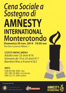 Cena Sociale a Sostegno di Amnesty International @ Sala Cooperativa Sociale Il Pungiglione  | Monterotondo | Lazio | Italia