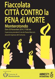 FIACCOLATA CITTÀ CONTRA LA PENA DI MORTE @ Comune di Monterotondo | Monterotondo | Lazio | Italia