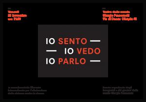 Io Sento, Io Vedo, Io Parlo @ Teatro della scuola Giorgio Franceschi | Roma | Lazio | Italia