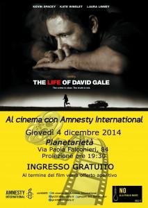 AL CINEMA CON AMENSTY INTERNATIONAL @ Planetarietà  | Roma | Lazio | Italia