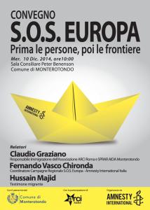 Convegno  S.O.S EUROPA PRIMA LE PERSONE,  POI LE FRONTIERE  @ Palazzo Comunale di Monterotondo | Monterotondo | Lazio | Italia