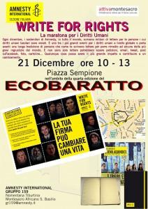 WRITE FOR RIGHTS AL MERCATO DELLO SCAMBIO @ Mercatino di scambio di oggetti   Roma   Lazio   Italia