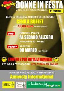 DONNE IN FESTA...VI DIAMO PIU' DI UN MOTIVO PER FESTEGGIARE @ Ristorante Al Sedano Allegro | Formia | LT | Italia