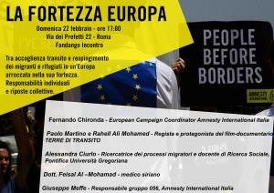 LA FORTEZZA EUROPA @ Fandango INCONTRO | Roma | Lazio | Italia