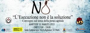 L'esecuzione NON è la soluzione @ Sala Calasanzio | Rieti | Lazio | Italia