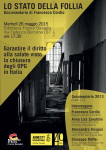 Lo Stato della Follia - Documentario @ Biblioteca Franco Basaglia | Roma | Lazio | Italia