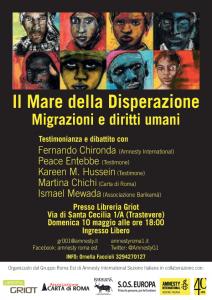 Il mare della disperazione – Migrazioni e diritti umani @ Libreria Griot | Roma | Roma | Italia