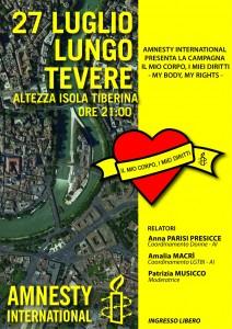 Il mio corpo, i miei diritti - salotto culturale con Amnesty @ Lungotevere    Roma   Lazio   Italia