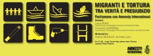 MIGRANTI e TORTURA - parliamone con Amnesty @ Lungotevere Roma | Roma | Lazio | Italia