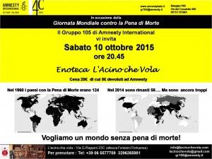 Vogliamo un mondo senza pena di morte! @ L'acino che vola   Roma   Lazio   Italia