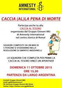 CACCIA (AL)LA PENA DI MORTE @ Roma | Roma | Lazio | Italia