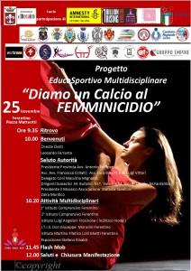 DIAMO UN CALCIO AL FEMMINICIDIO @ Ferentino (FR)   Ferentino   Lazio   Italia