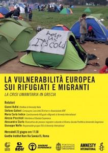 Vulnerabilità Europea su rifugiati e migranti @ Goethe Institut Roma | Roma | Lazio | Italia