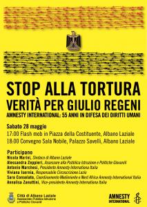 STOP TORTURA - Verità per Giulio Regeni @ Comune Albano Laziale | Albano Laziale | Lazio | Italia