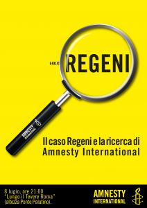 Il caso Regeni e la ricerca di Amnesty International @ Lungo il Tevere Roma | Roma | Lazio | Italia