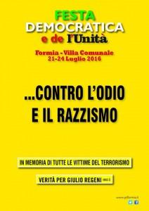 Verita per Giulio Regeni @ Festa de l'Unità - Formia @ Villa Comunale di Formia | Formia | Lazio | Italia