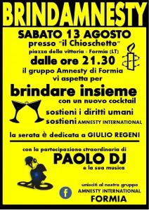 BrindAmnesty @ Il Chioschetto di Formia @ Chioschetto di Piazza Vittoria | Formia | Lazio | Italia