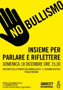 NO BULLISMO, INSIEME PER PARLARE E RIFLETTERE @ PARROCCHIA IMMACOLATA E  S. GIOVANNI BATTISTA