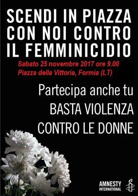 Flashmob contro violenza sulle donne @Formia
